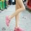 รองเท้าผ้าใบเสริมส้นสีชมพู ผ้าตาข่าย น้ำหนักเบา (สีชมพู ) thumbnail 7