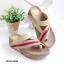 รองเท้าแตะเพื่อสุขภาพ สไตล์ลำลอง หูหนีบ เสริมพื้น (สีทอง ) thumbnail 3