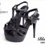 รองเท้าส้นสูง รัดข้อเท้า หนังนิ่ม สไตล์แบรนด์YSL-Tribute-Platfofm (สีดำ ) thumbnail 4