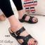 รองเท้าแตะ เพื่อสุขภาพ ปุ่มยางช่วยนวดเท้า ใส่ได้ตลอดวัน (สีดำ ) thumbnail 1
