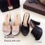 รองเท้าส้นสูงเปิดส้นสีแชมเปญ ใส่แล้วดูขาเรียวยาว (สีแชมเปญ ) thumbnail 5