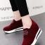 รองเท้าผ้าใบมัฟฟิน สไตล์เกาหลี (สีแดง ) thumbnail 1