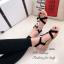 รองเท้าแตะ รัดส้น สายรัดยางยืด ใส่กระชับเท้า (สีดำ ) thumbnail 5