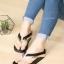 รองเท้าแตะผู้หญิง เปิดส้น เพื่อสุขภาพ (สีดำ )