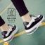 รองเท้าผ้าใบแฟชั่นสีดำ korea style ดีไซน์เก๋ส์ (สีดำ ) thumbnail 4