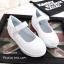 รองเท้าผ้าใบพื้นสุขภาพ แบบสวม สายรัดข้อเท้าเมจิกเทป มีAirMax (สีขาว ) thumbnail 4