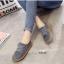 รองเท้าผ้าใบผู้หญิง สไตล์วินเทจ (สีเทา ) thumbnail 2