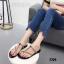 รองเท้าแตะแฟชั่นสีดำ แบบคีบ สไตล์แบรนด์ ZARA (สีดำ )