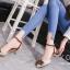 รองเท้าส้นเตี้ยรัดข้อสีแอปริคอท หัวแหลม แต่งอะไหล่ gucci (สีแอปริคอท ) thumbnail 3