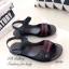 รองเท้าแตะ ลำลอง รัดข้อเท้า สายรัดเมจิกเทป (สีดำ ) thumbnail 2