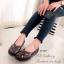 รองเท้าคัทชู แนววินเทจ หน้าไขว้ (สีน้ำตาล ) thumbnail 5