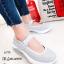 รองเท้าผ้าใบพื้นสุขภาพ แบบสวม สายรัดข้อเท้าเมจิกเทป มีAirMax (สีเทา )