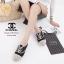 รองเท้าผ้าใบผู้หญิง ผ้าแคนวาส เพิ่มความเก๋ด้วยเชือกปอถัก STYLE CHANEL (สีดำ ) thumbnail 2