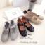 รองเท้าคัทชูรัดข้อ สไตล์แคชชวล ฉลุลาย (สีครีม ) thumbnail 4
