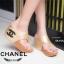 รองเท้าแตะส้นเตารีด ทรงคีบ (สีทอง ) thumbnail 2