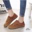 รองเท้าผ้าใบผู้หญิง สไตล์วินเทจ (สีน้ำตาล ) thumbnail 2