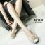 รองเท้าคัทชูเสริมส้นสีครีม หัวกลม พื้นบุนม (สีครีม ) thumbnail 1