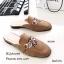 รองเท้าส้นเตี้ยเปิดส้นสีกากี ทรงสลิปเปอร์ Style Gucci (สีกากี ) thumbnail 2