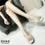 รองเท้าคัทชูเสริมส้นสีครีม หัวกลม พื้นบุนม (สีครีม ) thumbnail 2