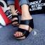 รองเท้าส้นเตารีด แบบสวม สายคาด2ระดับ (สีดำ ) thumbnail 3