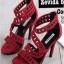 รองเท้าส้นสูง ปิดส้น รัดข้อเท้า แต่งซิปหลัง (สีแดง ) thumbnail 1
