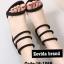 รองเท้าส้นสูง ปิดส้น รัดข้อเท้า สไตล์เกาหลี (สีดำ )