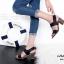 รองเท้าส้นสูง รัดส้น เปิดหน้า สายรัดเมจิกเทป (สีดำ ) thumbnail 6