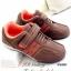 รองเท้าผ้าใบ หนังกลับ สายรัดเมจิกเทป น้ำหนักเบา (สีน้ำตาล ) thumbnail 1