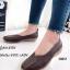 รองเท้าส้นเตี้ย เพื่อสุขภาพ หนังนิ่ม สไตล์วินเทจ (สีน้ำตาล )