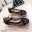 รองเท้าส้นเตารีด ผ้าลูกไม้ แนววินเทจ (สีดำ ) thumbnail 4