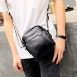 พร้อมส่ง กระเป๋าผู้ชายสะพายข้างใบเล็ก แฟชั่นเกาหลี รหัส Man-9839 สีดำ