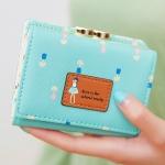 พร้อมส่ง กระเป๋าสตางค์ใบสั้นผู้หญิง กระเป๋าสตางค์นักเรียน แฟชั่นเกาหลี รหัส DA-883 สีเขียวมิ้นต์