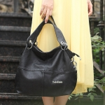 ขายส่ง กระเป๋าสะพายไหล่ มีสายสะพายข้าง แฟชั่นยุโปรอเมริกา Fashion bag รหัส NA-625 สีดำ