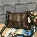 กระเป๋าแฟชั่น แบรนด์ CATH KIDSTON รุ่น DOUBLE HANDLE LEATHER BAG สีน้ำตาลลายตาราง