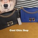 กระเป๋าแฟชั่น แบรนด์ CHARLES & KEITH CHAIN BAG มี 2 สี ดำ น้ำเงิน