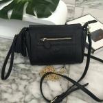 กระเป๋าแฟชั่น แบรนด์ KEEP รุ่น saffiano leather 3 in1 with chain strap สีดำ