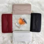 กระเป๋าสตางค์แบรนด์ CHARLES & KEITH รุ่น LONG WALLET BAG มี 4 สี สีดำ สีขาว สีแดง สีชมพูนู้ด