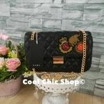 กระเป๋าแฟชั่น แบรนด์ Zara รุ่น quilted crossbody bag