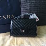กระเป๋าแฟชั่น แบรนด์ ZARA สายโซ่ สีดำ