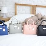 กระเป๋าหนังแท้แบรนด์ V-Jasz รุ่น Mini Buckle Handbag มี 4 สี ดำ ชมพู น้ำเงิน เทา