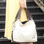 ขายส่ง กระเป๋าสะพายไหล่ มีสายสะพายข้าง แฟชั่นยุโปรอเมริกา Fashion bag รหัส NA-625 สีครีม