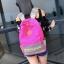 ขายส่ง กระเป๋าเป้ผ้าสะพายหลัง เป้นักเรียน School bag แฟชั่นญี่ปุ่น รหัส NA-544 สีชมพู thumbnail 1