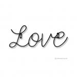เหล็กดัดลาย - WIRE ART LOVE