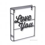 เหล็กดัดลาย - WIRE ART LOVE YOU BOOK