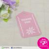 ป้ายTAG Thank you ลายดอกไม้ สีชมพู ขนาด 3.9x6.7 ซม. (บรรจุแพ็คละ 50 ชิ้น)