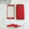 เคส Samsung J2 Dimi มีสาย+ฟิล์ม สีแดง