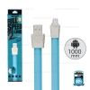 รับประกันสินค้า 1 ปี โดย Remax (Thailand) สายชาร์จ Micro (1เมตร,Full Speed2) สีฟ้า