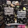 โลโกมาร์เวลสีดำ (Logo MARVEL COMIC black)