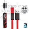 รับประกันสินค้า 1 ปี โดย Remax (Thailand) สายชาร์จ Remax iPhone5/5s/6/6s/Micro RC-026T สีแดง