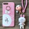 เคส iPhone 7 Plus โคนี่พวงกุญแจกระดิ่ง+แหวน สีชมพู BKK